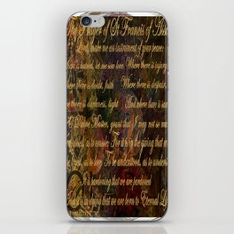 The Prayer of St Francis of Assisi iPhone Skin