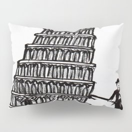 Tower of Pisa and a Chap Pillow Sham