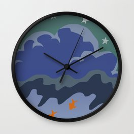 Stars and Fish Wall Clock
