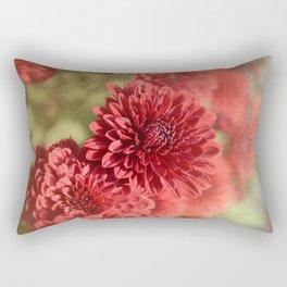 Red Mums Rectangular Pillow