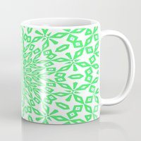 john green Mugs featuring Green... by Lisa Argyropoulos