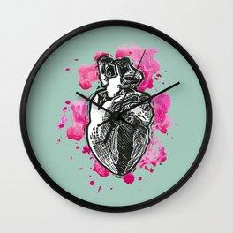 Heart me celladon Wall Clock