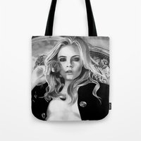 cara delevingne Tote Bags featuring cara delevingne by donotseemeart