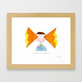 visions of radness Framed Art Print