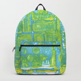 Abstract in Blues & Yellows Backpack