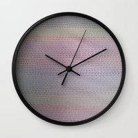 numbers Wall Clocks featuring Numbers by Melissa Roberts