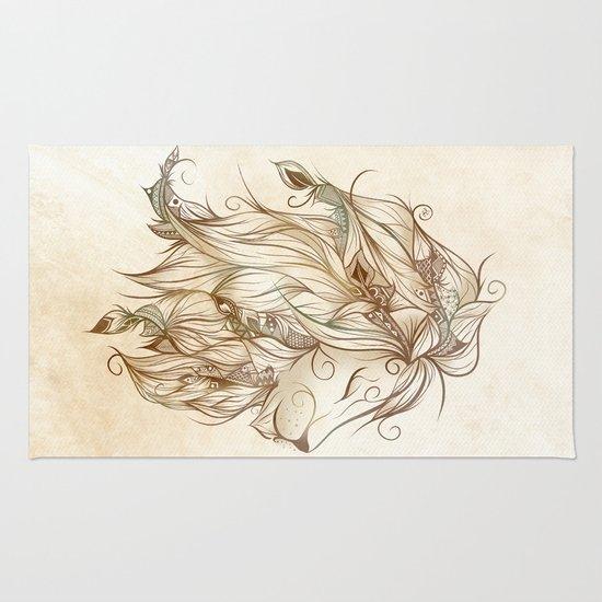 Poetic Lion  Rug