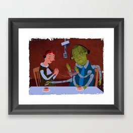 interview with the alien Framed Art Print