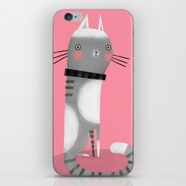 CATS ON PINK iPhone Skin