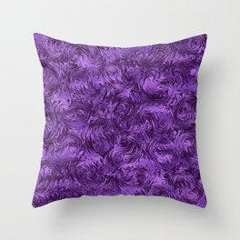 Marbled Paisley - Purple Throw Pillow