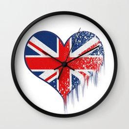 London heart shaped logo Wall Clock