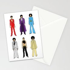Outfits of Purple Fashion (White) Stationery Cards