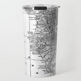 Vintage Map of Florida (1909) BW Travel Mug