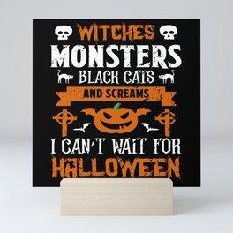 Halloween Monsters Screams Skull Pumkin Mini Art Print