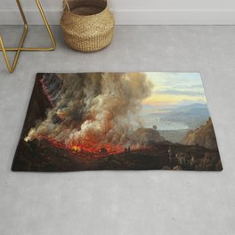 Johan Christian Dahl Eruption of Vesuvius Rug