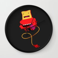 Red Toast Wall Clock