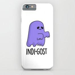 Indo-gost Cute Halloween Indigo Ghost Pun iPhone Case