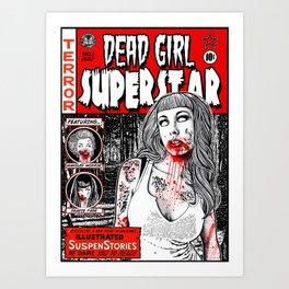 """DEAD GIRL SUPERSTAR """"RETRO COMIC COVER"""" Art Print"""