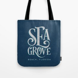 Seagrove Beach Typography (blue) Tote Bag