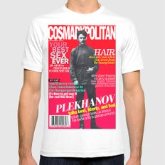 COSMARXPOLITAN, Issue 15 MEDIUM White Mens Fitted Tee