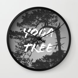 Yoga Tree Wall Clock