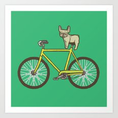 Frenchie on a Fixie Art Print