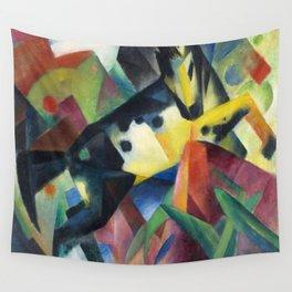"Franz Marc ""Jumping Horse (Springendes Pferd)"" (II) Wall Tapestry"