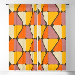 Cube Triangle Mod Yellow Blackout Curtain