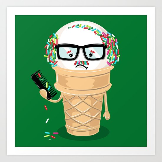 Ice Cream Coneover (Holiday Edition) Art Print