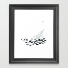 suit down Framed Art Print