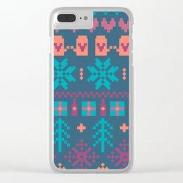 Fair Isle Christmas Clear iPhone Case