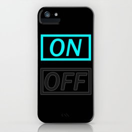 Light On And Off Button iPhone Case