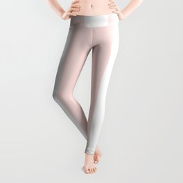 Vertical Stripes - White and Pastel Pink Leggings