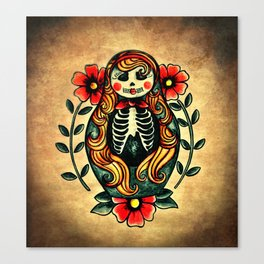 Sugarskull matryoshka Canvas Print