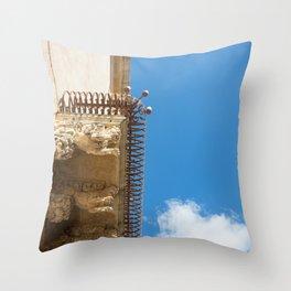 Balcony Sicily architecture Throw Pillow
