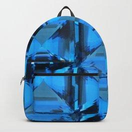 BLUE CRYSTAL GEMS PATTERN Backpack
