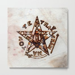 Freemasonic Symbolism by PB Metal Print