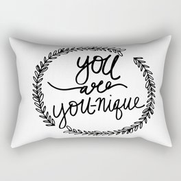 You are YOU-nique Quote Rectangular Pillow