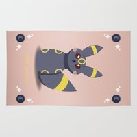 umbreon Area & Throw Rugs featuring Evolution Bobbles - Umbreon by creativeesc