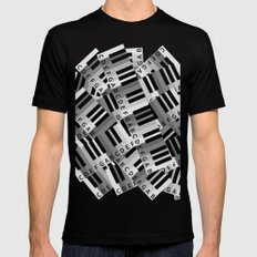 Piano Keys Mens Fitted Tee Black 2X-LARGE