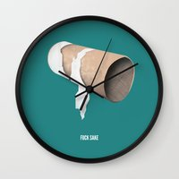 toilet Wall Clocks featuring Toilet Peeve by meselldesign