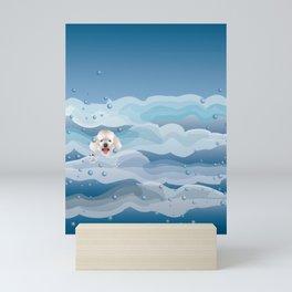 Poodle Loves to Swim Mini Art Print