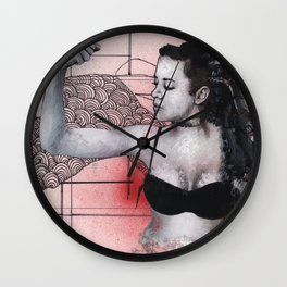 Strength in Red Wall Clock