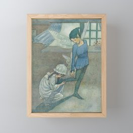 """Wendy and Peter"" by Hilda Miller 1915 Framed Mini Art Print"