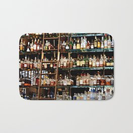 BOTTLES ALL IN A ROW Bath Mat