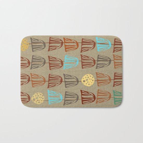Pods and Seeds 2 on Linen Bath Mat