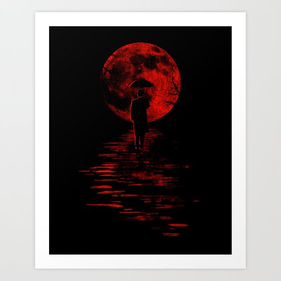 Rainman in Red Art Print