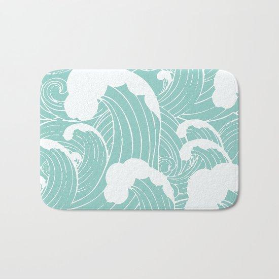 Refreshing waves Bath Mat