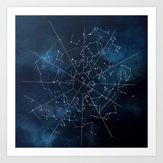Celestial Map Art Print