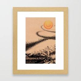Fan-made Explosions Gig poster Framed Art Print